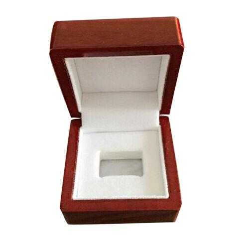 4Pcs Wine Red Rings Box Schmuck Display Aufbewahrungskoffer für
