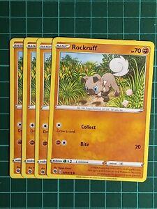 POKEMON CARD - 4 x Rockruff 029/073 - Common - Champion's Path - NM