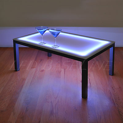 22 Lighted Bar Coffee Table Modern Color Changing 852660504844 Ebay