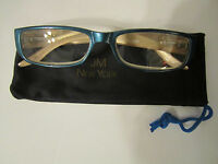 Jm York Reading Glasses +2.00 Dazzling Blue Spring Hinged Joy Mangano Reader
