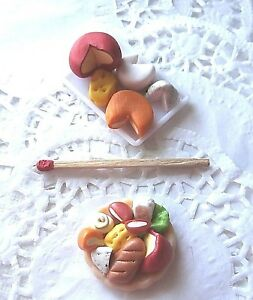 Fromage-Miniature-Aliment-Factice-Cheese-Maison-Poupee-Vitrine-DollHouse-Food