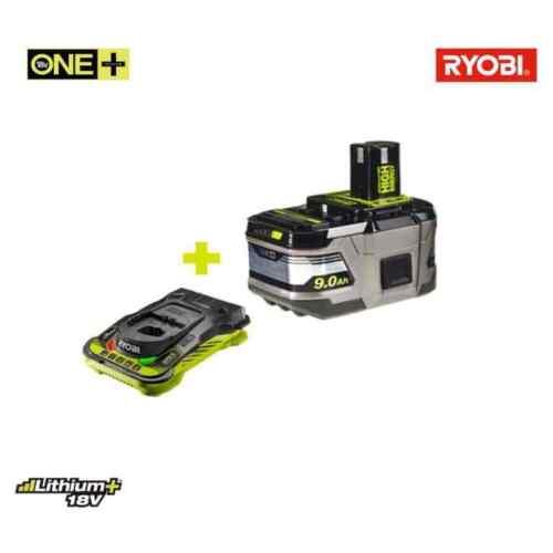 1 chargeur ultr Pack batterie RYOBI LithiumPlus High Energy 18V OnePlus 9.0Ah
