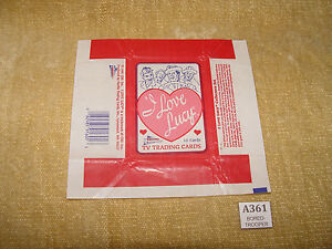 PACIFIC-I-LOVE-LUCY-TRADING-CARD-PACKET-WRAPPER-FLAT-READY-TO-FRAME-HTF-1991