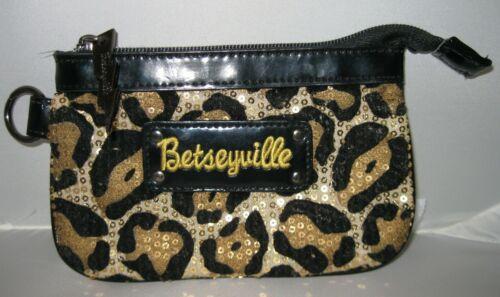 Betseyville Victoria/'s Secret SAC Mark New York gold crossbody makeup bag black