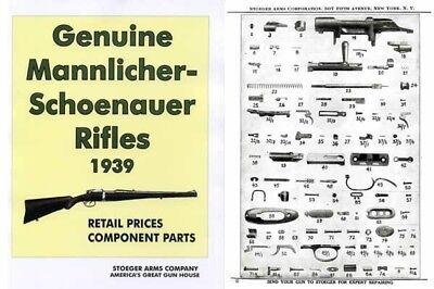 Steyr-Mannlicher Schoenauer Repeating Sporting Rifles 1939 Stoeger Gun &  Parts C | eBay