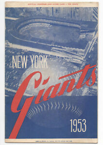 Frankie-Frisch-amp-Ernie-Harwell-Autographed-1953-New-York-Giants-Baseball-Program