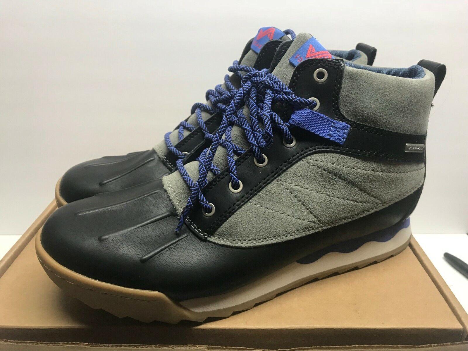 Forsake Duck 9.5 Womens Waterproof Leather Performance Sneaker Boot Black Stone