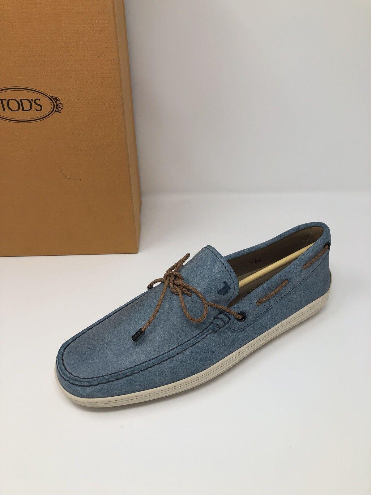595 New Tods Mens Light blu scarpe Dimensione 6.5 US 5.5 EU