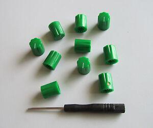 10x guitar amp effect pedal knobs 1 4 davies 1900h style knob set screw green ebay. Black Bedroom Furniture Sets. Home Design Ideas