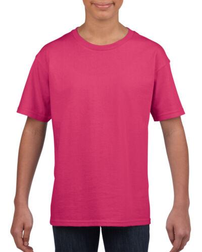 Plain Pink Childrens Kids Boys Girls Child Cotton Tee T-Shirt Tshirt Age 3-14