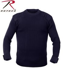 Click Acrylic Mod Crew Neck Sweater With Shoulder And Elbow Patches Amodc