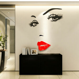 Big Eyes Sexy Lip Vinyl Wall Sticker Decals Mural Home Decor Bedroom Removable