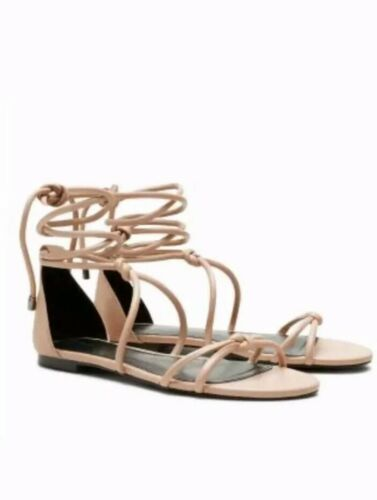 New in box Ladies Size 6 Nude Tie Knot Gladiator Sandals from Next