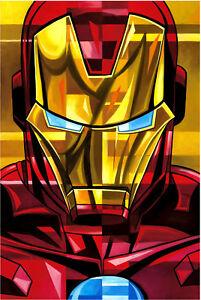 Rogerson-Tony-Stark-Iron-Man-Marvel-Superhero-Fine-Art-Cubism-Portrait-on-Canvas