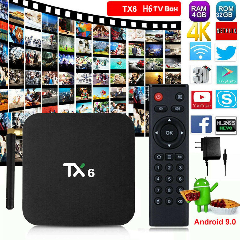 WiFi Tanix TX6 TV Box Allwinner H6 2.4GHz + 5.8GHz BT4.1 Sup