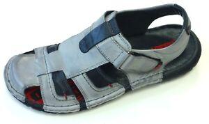 Zu Echt Leder 1 Krisbut Slipper Halbschuh 1098 5 Sandale Details Schuhe Grau Polen Herren D9EIH2