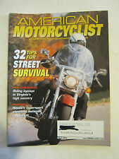 April 2003 American Motorcyclist Magazine, 32 Tips For Street Survival (BD-25)