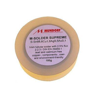 100g Mundorf Audio Lötzinn MSolder Supreme Silber-Gold Lot Silver-Gold 852929
