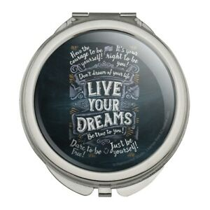Live Your Dreams Be True To You Believe Compact Purse