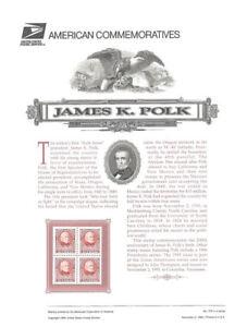 475-32c-President-James-K-Polk-2587-USPS-Commemorative-Stamp-Panel