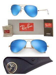 3e8b8c4c60d Ray-Ban Aviator Sunglasses RB3025 Blue Mirror G-15 Lens 58mm Matte ...
