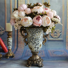 1 Bouquet Fake Artificial Peony Silk Flower Wedding Home Decor Bridal Hydrangea