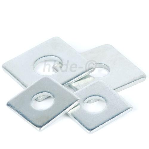 Quadratische Platte Unterlegscheiben Verzinkt Dicke 2.5~3mm M8 M10 M12 M14 M16