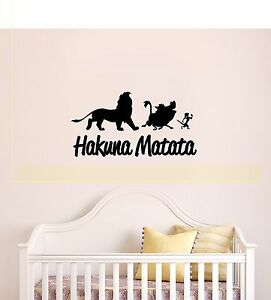 Image Is Loading HAKUNA MATATA Lion King Quote Simba Timon Pumbaa