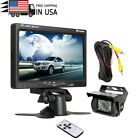 "7"" TFT LCD Monitor Screen For Truck Bus Trailer IR Reversing Backup Camera Kit"
