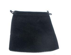 10-Sachets-Sacs-Pochettes-cadeau-Velours-Noir-12x10cm