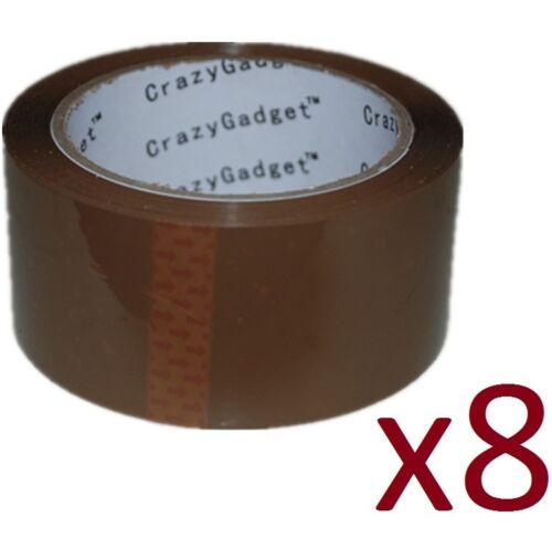 Sellotape Strong Brown Parcel Packing Tape Packaging Box 50Microns Carton Trendy