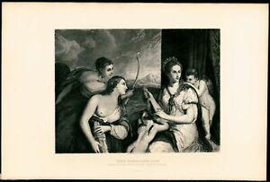 Venus-Blindfolding-Love-V-Focillon-1880-039-s-Titian-steel-engraved-print