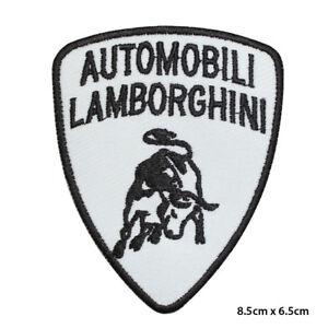 Lamborghini Car Brand Logo Racing Embroidered Patch Iron on Sew On Badge