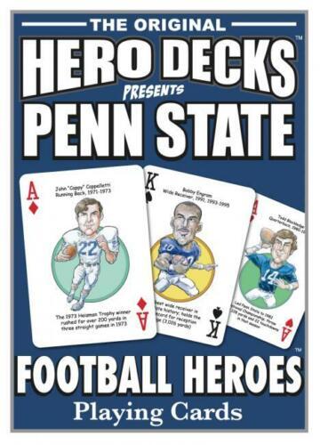 PENN STATE NITTANY LIONS FOOTBALL HERO DECKS PLAYING CARD DECK NEW