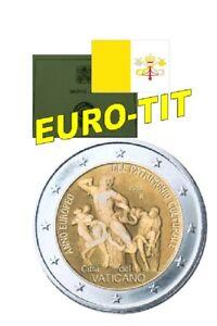 2 € VATICAN COMMEMORATIVE PATRIMOINE CULTUREL NOUVEAU 2018 2018 - France - Pays: Vatican Valeur faciale: 2 Euro Année: 2018 - France