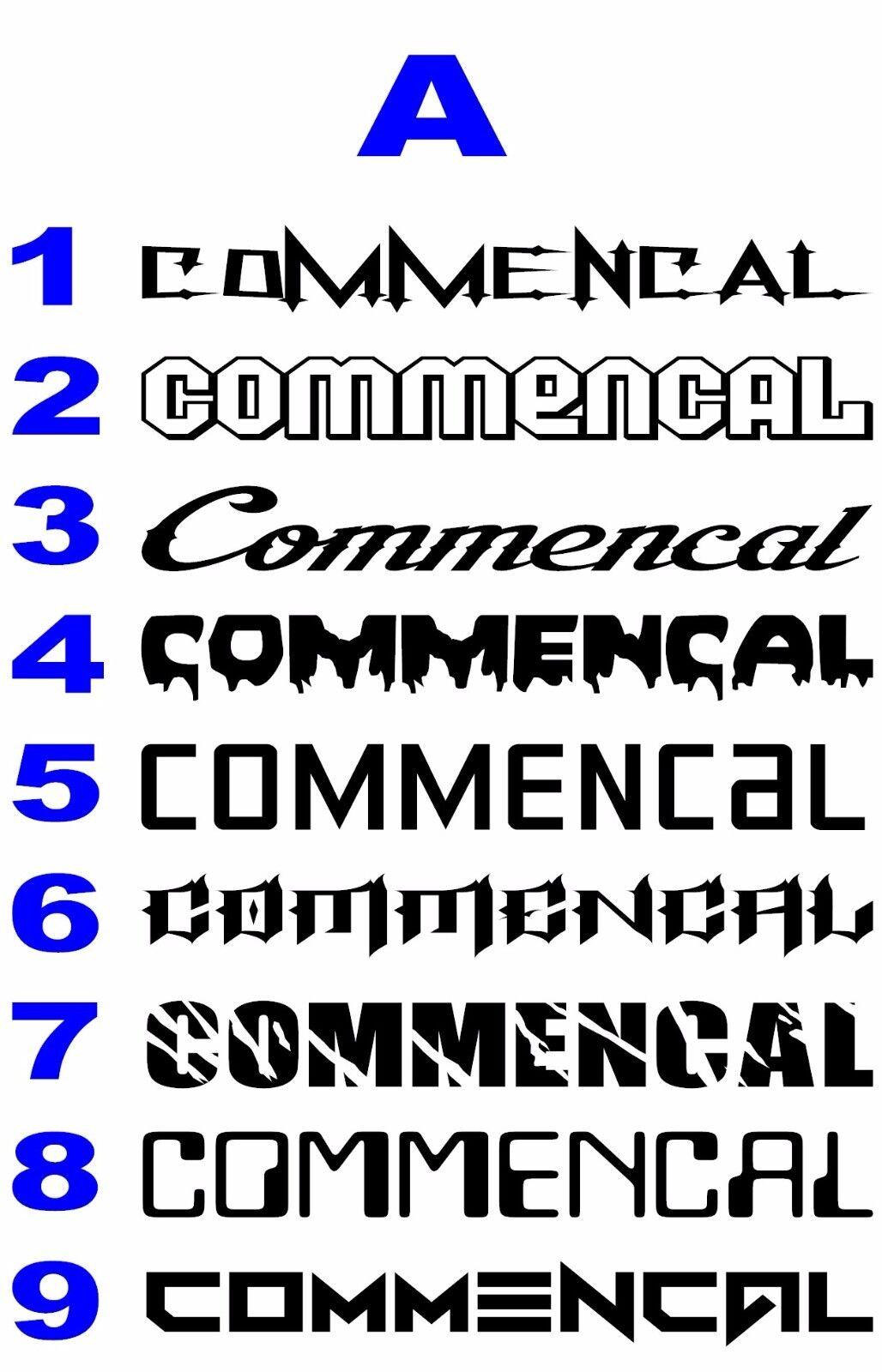Custom Pick a Font Bike Brand Set Specialized Commencal Trek Giant Niner Kona
