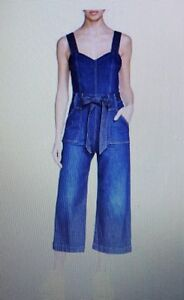 214281576386 NEW! 7 for Mankind Denim Culotte Jumpsuit  298 Size 24 886992834232 ...