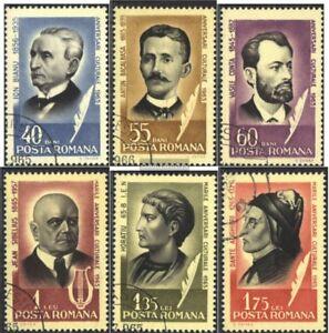 Rumaenien-2396-2401-kompl-Ausg-gestempelt-1965-Persoenlichkeiten