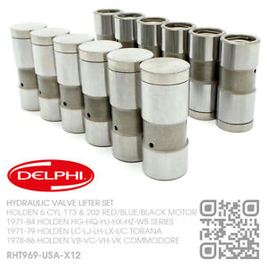 DELPHI-HYDRAULIC-VALVE-LIFTERS-6-CYL-173-amp-202-MOTOR-HOLDEN-HG-HQ-HJ-HX-HZ-WB