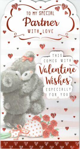 À mes Précautions Partner-Qualité saint valentin carte-St-Valentin Femme Ours