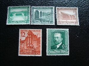 Germany-Stamp-Yvert-Tellier-N-584-86-653-684-Cancelled-A47