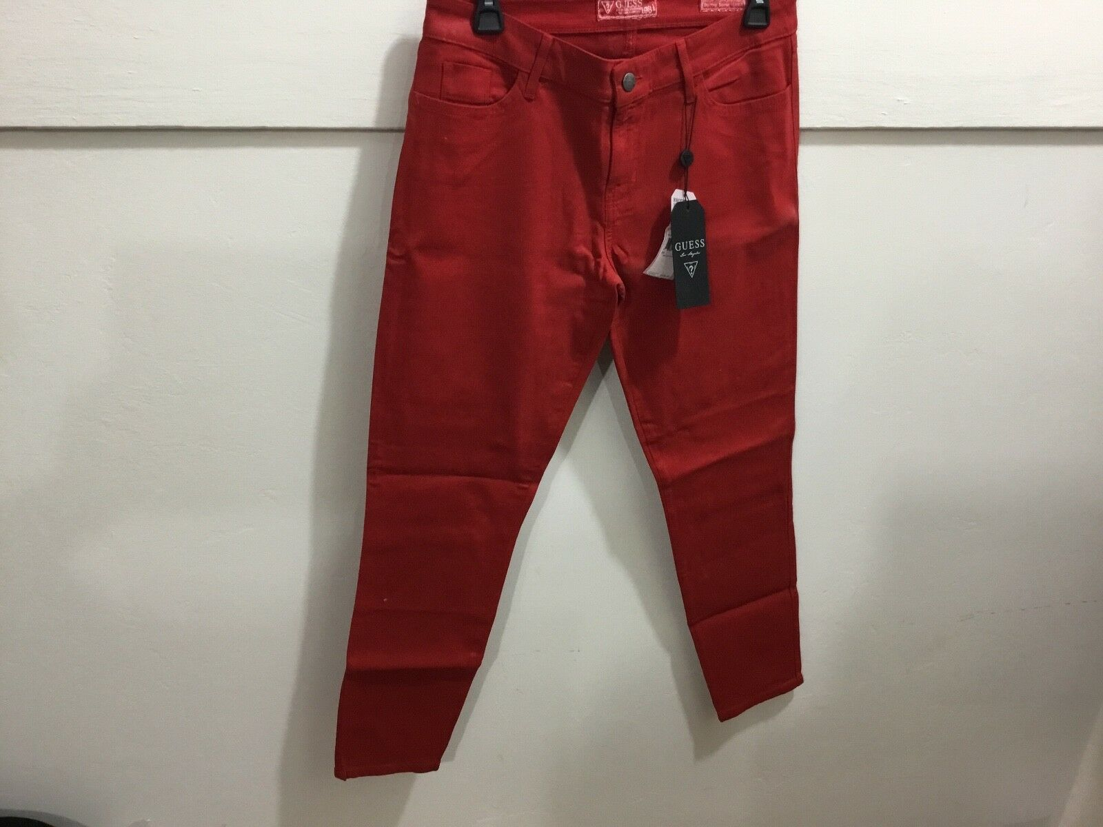 Guess ladies Brittney skinny ankle red NWT jeans
