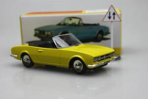 yellow-Atlas-1423-Dinky-toys-1-43-Cabriolet504-Peugeot-Alloy-car-model-Roadster