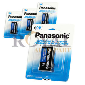 Lot-Of-4-Pcs-Panasonic-Battery-9-Volt-Super-Heavy-Duty-Carbon-Zinc-Batteries-New