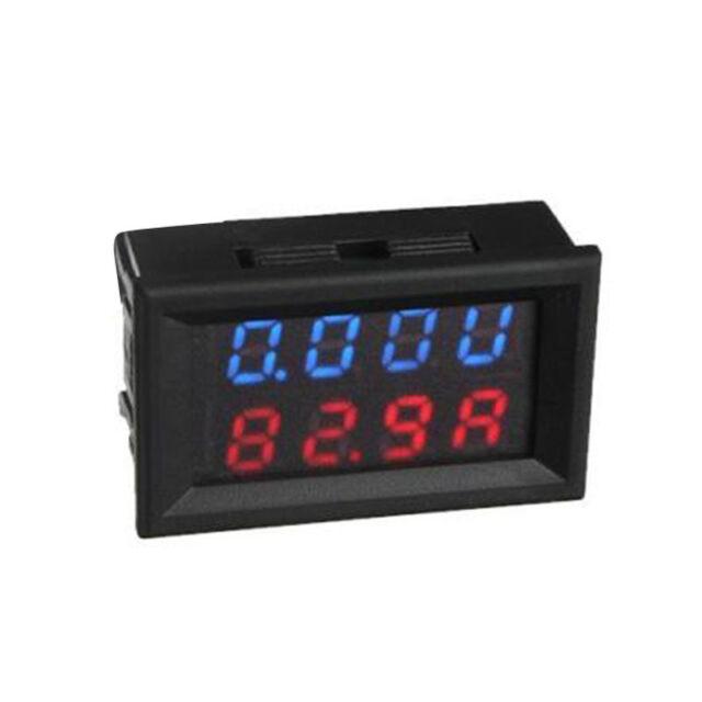 100V 100A DC Dual Digital Voltmeter Ammeter LED Amp Volt Meter 12V shunt Car HY