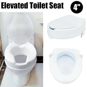 Pleasing Details About 4 Elevated Toilet Seat Riser Medical Raised Portable Security For Kids Elderly Caraccident5 Cool Chair Designs And Ideas Caraccident5Info