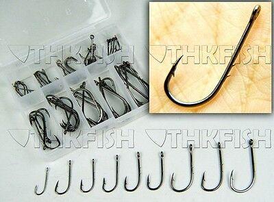 500 Pcs Baitholder Carbon Black With 2 barbs Fishing Hooks