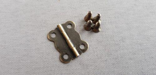 Noir charnières pour petites boîtes en bois Maison de poupées Craft Project Meubles Boîte Porte