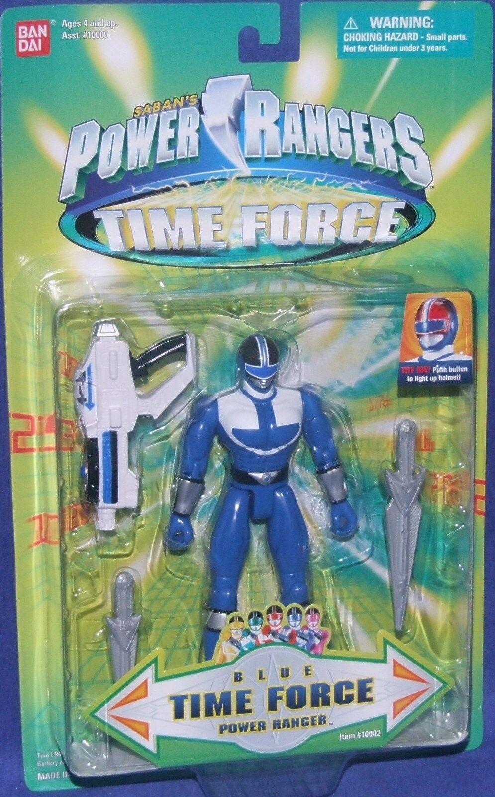 Power Rangers Time Force Blau Ranger New Light up 5
