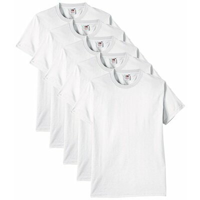 Fruit of the Loom Homme Heavy Multipack Of 5 T-Shirt